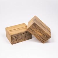 Holzaufsteller Eiche - rough