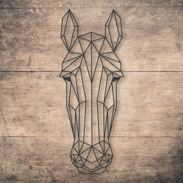 Geometric Horse Face