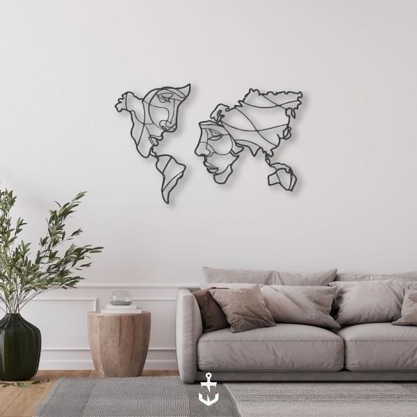 World Map Couple