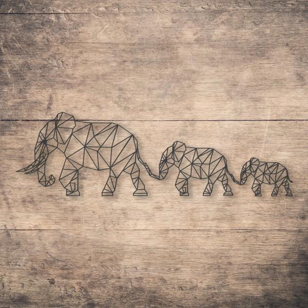 Geometric Elephant Family